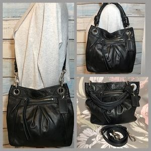 Coach Gun Metal Black Parker Hippie Hobo Crossbody